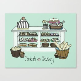 British Bakery Canvas Print