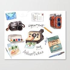 Document Your Adventures Canvas Print