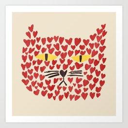 Love thy cat Art Print