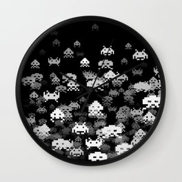 Invaded BLACK Wall Clock