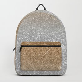 Trendy silver elegant gold gradient glitter pattern Backpack