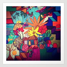 Flowers and colors Art Print