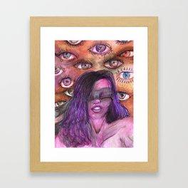 BLINDED EYES Framed Art Print