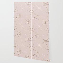 Rose Gold Geometric Pattern Wallpaper