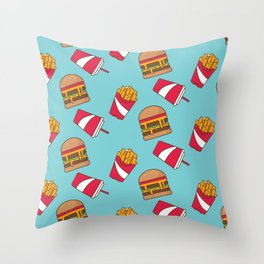 Food Junkie II Throw Pillow