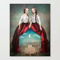 theatre Canvas Prints featuring Celestial Theatre by Christian Schloe