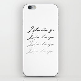 Make Like Elsa & Let It Go iPhone Skin
