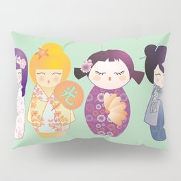 Kokeshis four seasons Pillow Sham
