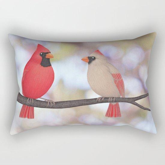 psychedelic cardinals bokeh Rectangular Pillow