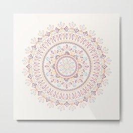 Jardin Mandala - Coral Metal Print