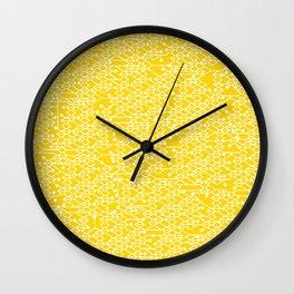 Microchip Pattern (Yellow) Wall Clock
