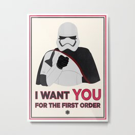Do It For Phasma Metal Print