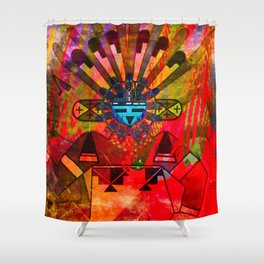 Native power Shower Curtain