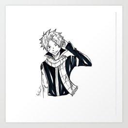 Natsu Dragneel Art Print