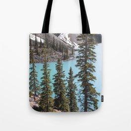 Moraine Lake Vertical Print Tote Bag