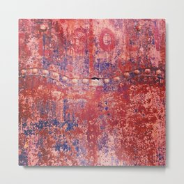 Surface eaten away by rust Metal Print