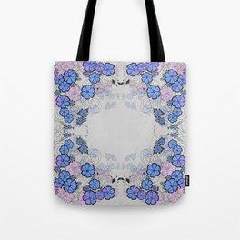 Floral frame Tote Bag