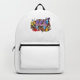 Hiphop Dancer Graffiti Artist Typography 19th Birthday Hip Hop Urban Wall Mural Street Art Backpack