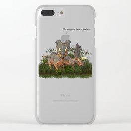 O.M.G. Clear iPhone Case
