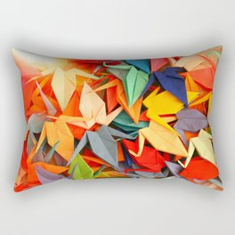 Senbazuru rainbow Rectangular Pillow