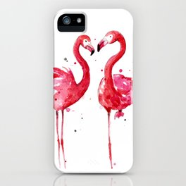 Pink Flamingos iPhone Case