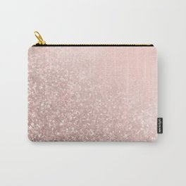 Rose Gold Sparkles on Pretty Blush Pink VI Carry-All Pouch