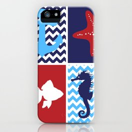 Nautical medley iPhone Case