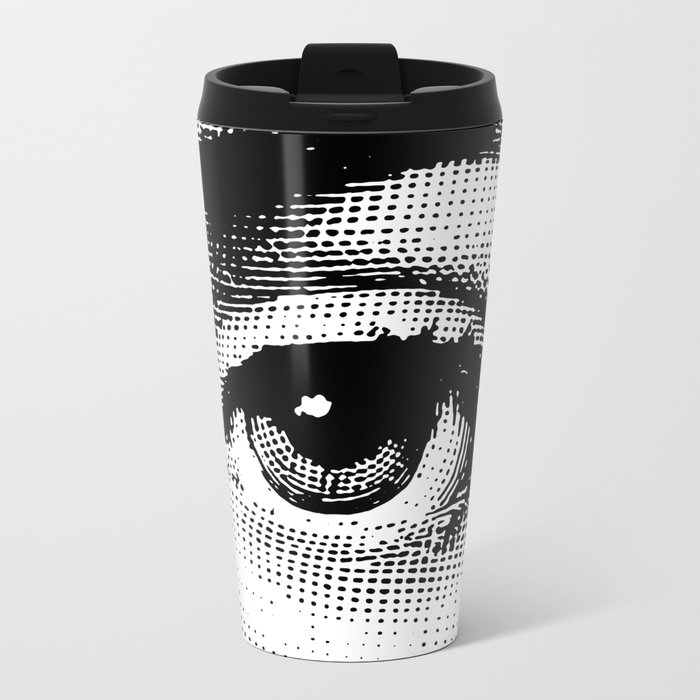 Lina Cavalieri Eye 02 Metal Travel Mug
