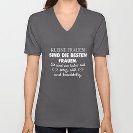 kleine frauen sind die besten frauen sie sind von natur aus sexy sub und knuddelig germany t-shirts Unisex V-Neck