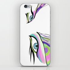 Peacock White  iPhone & iPod Skin