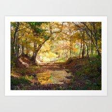 One Fall Morning Art Print