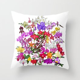 A celebration of orchids Throw Pillow