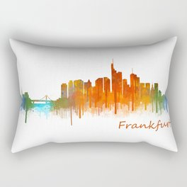 Frankfurt am Main, City Cityscape Skyline watercolor art v2 Rectangular Pillow