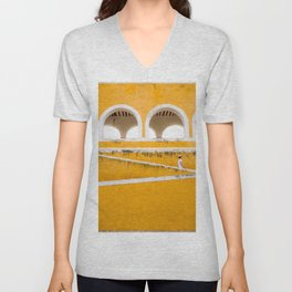 Colonial Mexico, Izamal in Yellow #buyart #society6 #decor Unisex V-Neck