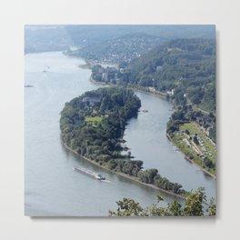 Insel Nonnenwerth im Rhein bei Königswinter Metal Print