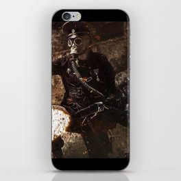 Victory is achieved throught mettle...  iPhone Skin