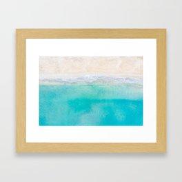 Aerial sand and sea shoreline Framed Art Print