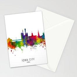 Iowa City Iowa Skyline Stationery Cards