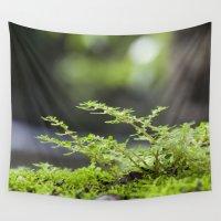 moss Wall Tapestries featuring Rainforest Moss by Deborah Janke