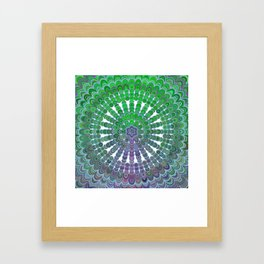 Spring Mandala Wheel Framed Art Print