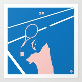 Federer 20 Commemorative Print Art Print
