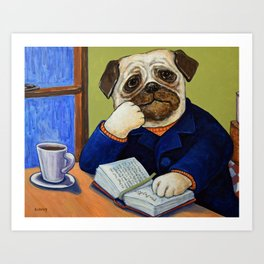 Epic Tales Of The Pug King Art Print