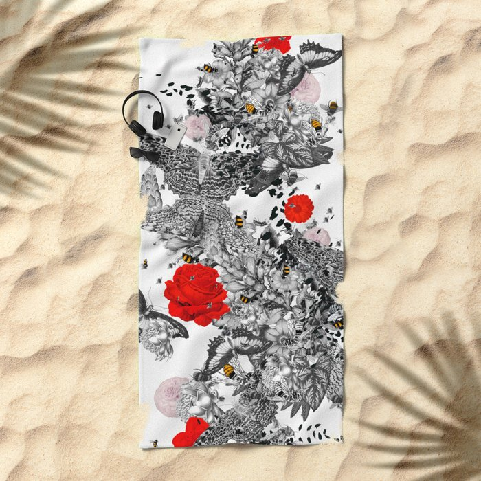 Bee Stung - Red Beach Towel