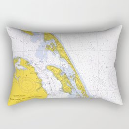 Vintage Map of The Outer Banks NC (1972) Rectangular Pillow