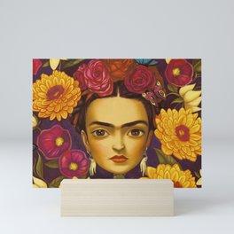 Frida Flowers Mini Art Print