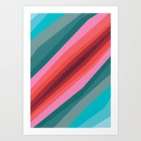 cracked Art Prints featuring Cracked  by K I R A   S E I L E R