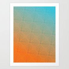 Crank (Gradient) Art Print