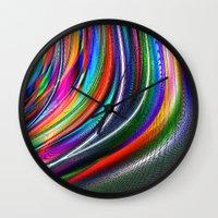 aurora Wall Clocks featuring Aurora by David  Gough