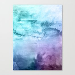 Watercolor Mystery - Blue and Purple Canvas Print