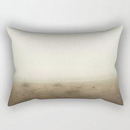 Heavy Foggy Beach Rectangular Pillow